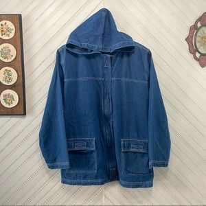 BFF Lightweight Denim Hooded Jacket